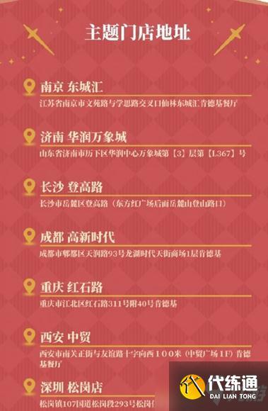 《原神》KFC聯動城市介紹